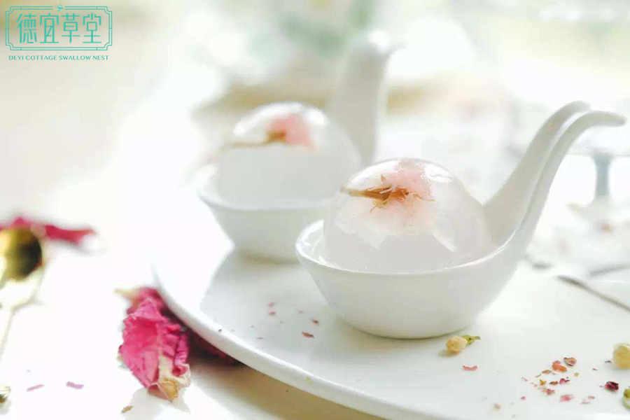 酸奶樱花燕窝的做法