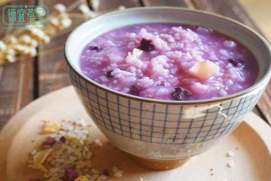 紫薯小米燕窝粥的做法