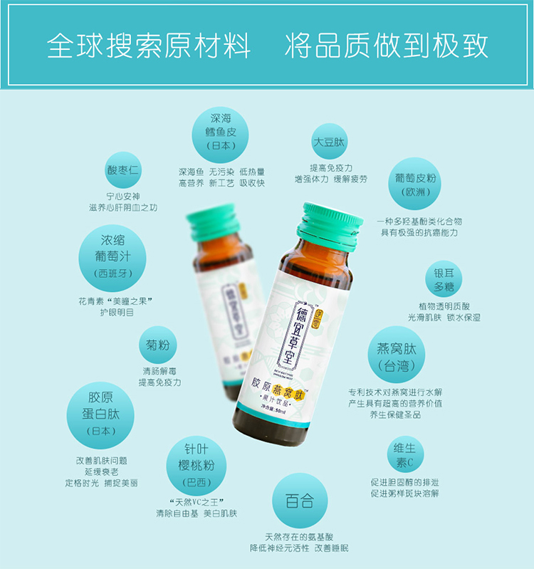 胶原燕窝肽,你的肌肤管家