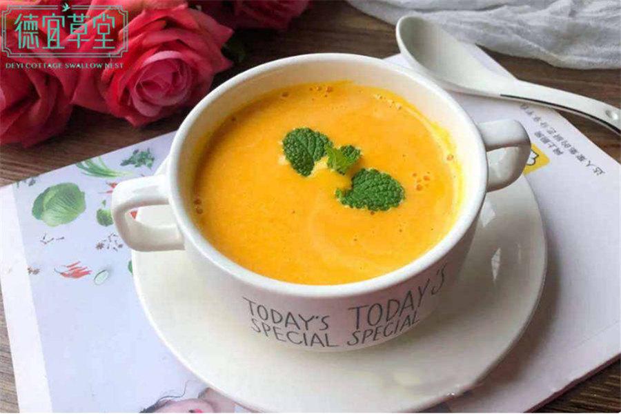 南瓜牛奶炖燕窝的做法