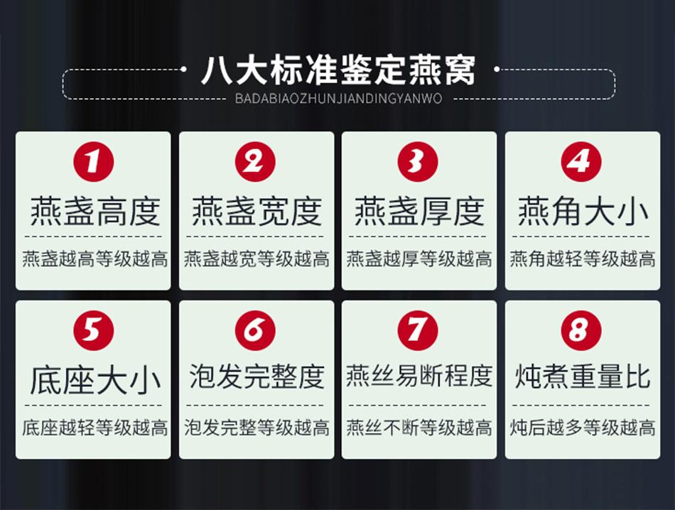 真的燕窝必有的八个标准